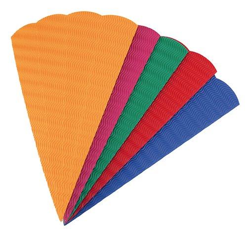 Geschwisterschultüten aus 3D-Wellpappe, 20 Stück in 5 Farben sortiert.