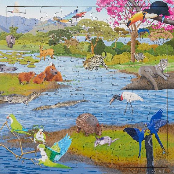 Puzzle Interaktiv Sumpfgebiet