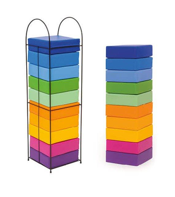 Regenbogen-Sitzkissen mit Sitzkissengestell