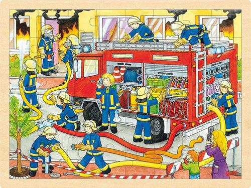Einlegepuzzle Feuerwehr 48 teilig