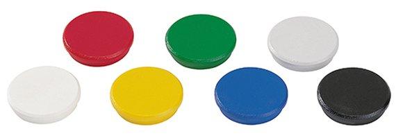 Magneten rond 32mm. 10 stuks assortie.