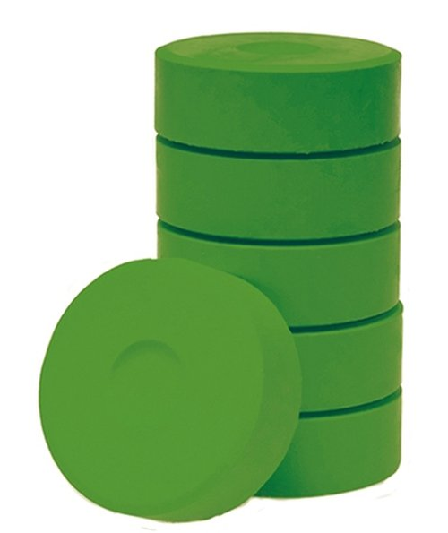 Wasserfarbe-Pucks hellgrün 55mm. 6 Stück