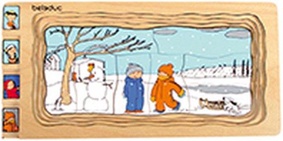 Lagenpuzzle Jahreszeiten.