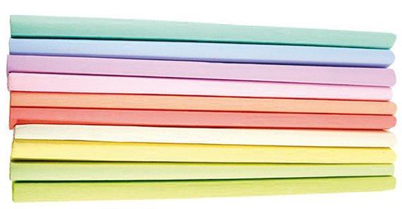 Krepppapier Pastellfarben