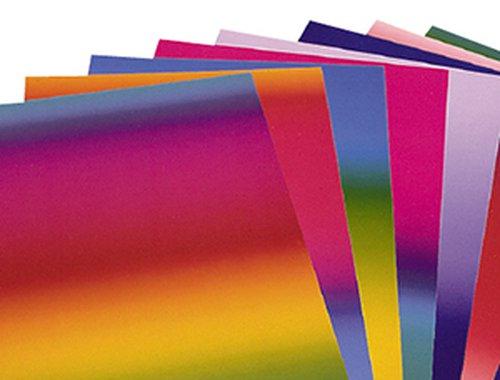 Regenbogenkarton 22,5x32,5cm. 10 Blatt