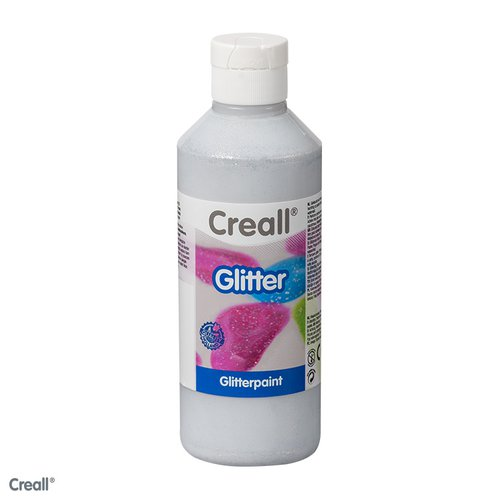 Creall-Glitter 250 ml, zilver