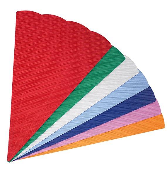 Große Schultüten aus 3D-Wellpappe 20 Stück in 5 Farben sortiert.