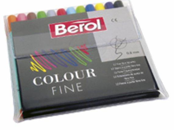 Berol viltstiften fine (0,6mm. punt).