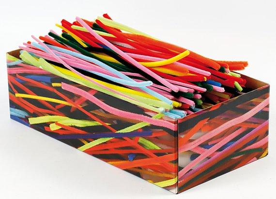 Pfeifenputzer Bunt sortiert in Box