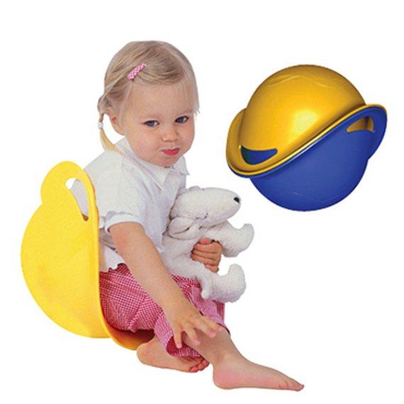 Zit- en speelschaal Een multifunctioneel speelgoed waarin je kunt draaien, tollen verstoppen. Voor binnen en buiten, voor zand en water enz. Gemaakt van onverwoestbaar PE. Diverse kleuren leverbaar.