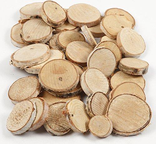 Holzscheiben Natur, groß