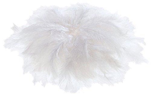 Schmuckfedern weiß, 100 Gramm Beutel. Inhalt ca. 750 Stück, Länge 6-8 cm.