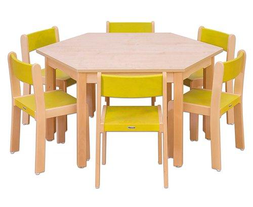 Tisch-Stuhl-Kombination Trapo