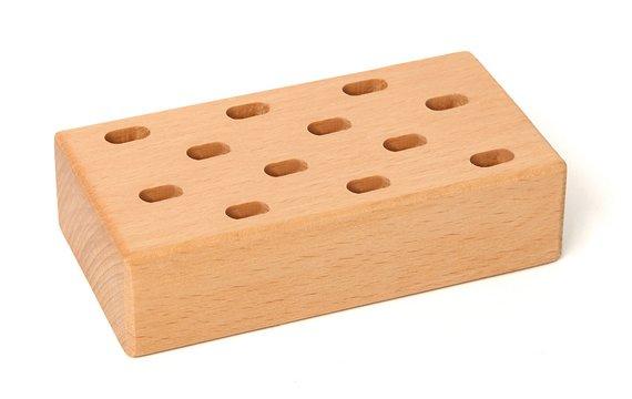 Scharenblok hout, 12 gaats.