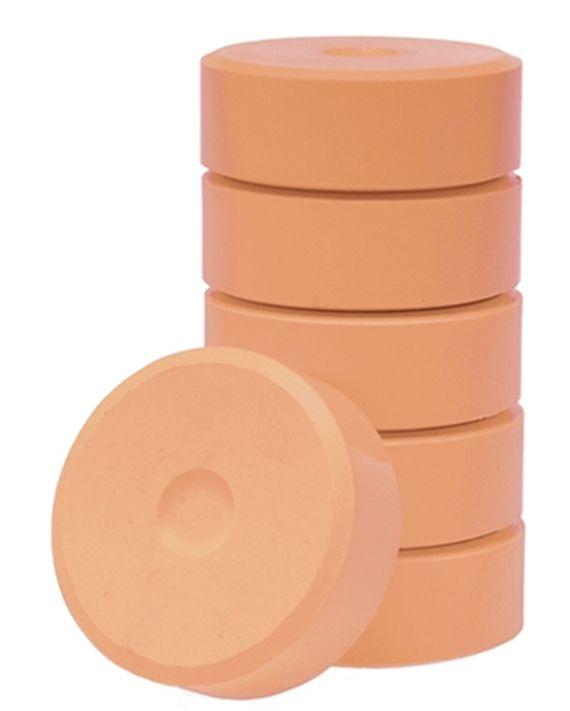 Wasserfarbe-Pucks hautfarbe 55mm. 6 Stück
