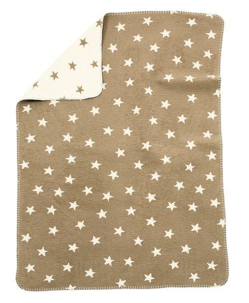 Babydecke aus Baumwolle Sterne beige