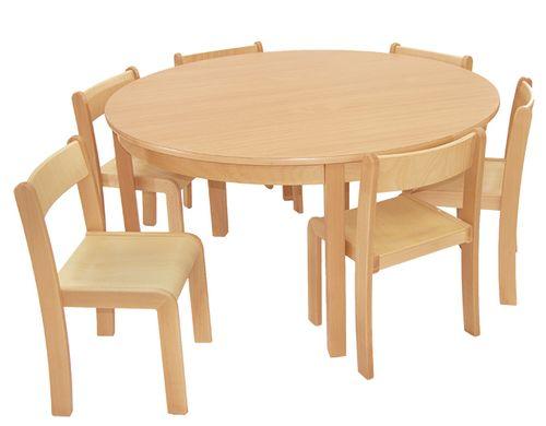 Tisch-Stuhl-Kombination Rund