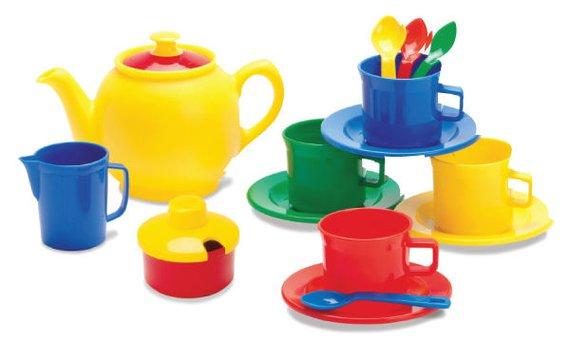 Teeservice Kunststoff 17 teilig