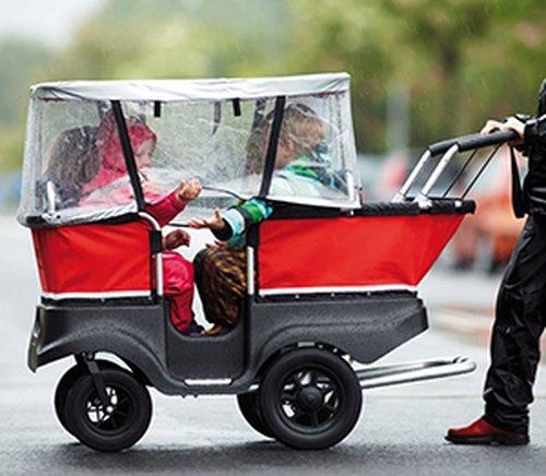Turtlebus Regenschutz für 4-Sitzer.