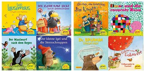 Die beliebtesten Bilderbuch-Helden bei Pixi 8er-Set 3