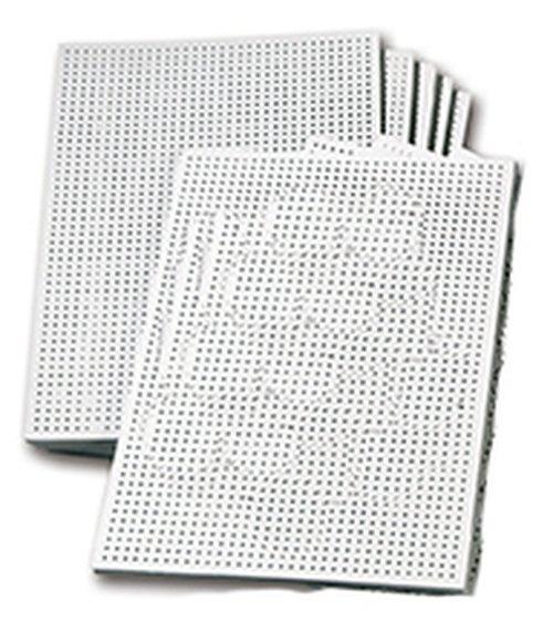Stickkarton weiß, unbedruckt