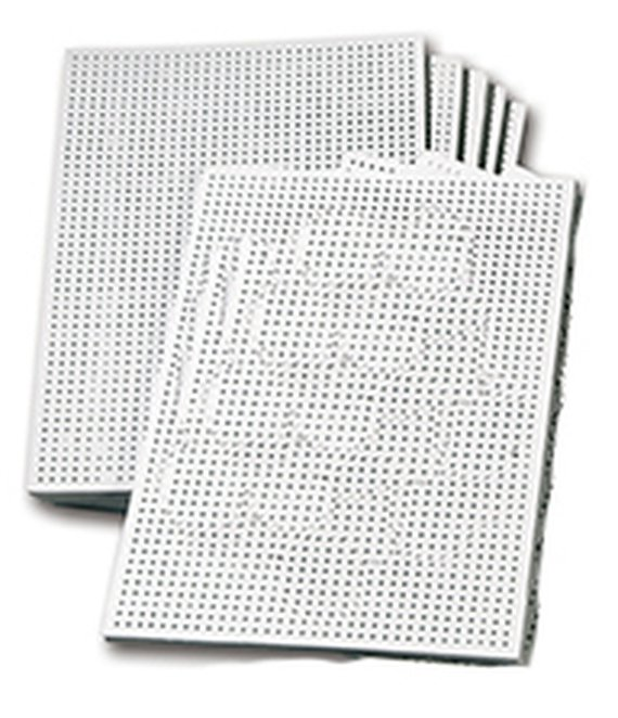 Borduurkarton wit, onbedrukt