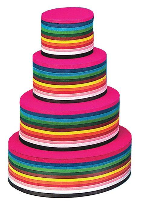 Vouwkartons 16 cm rond 12 kleuren