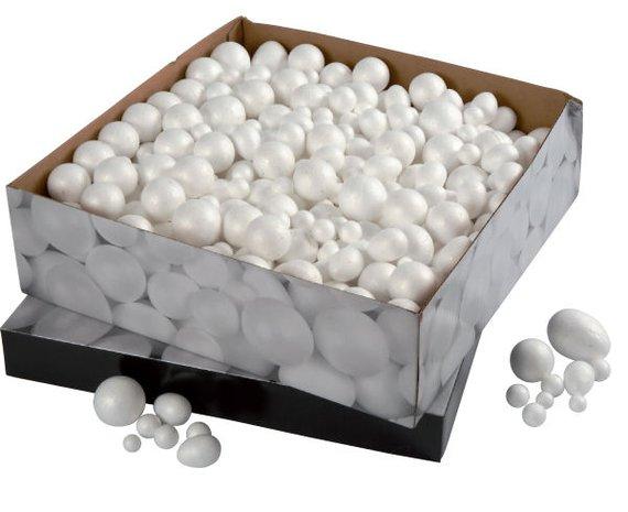 tyropor Kugeln und -Eier