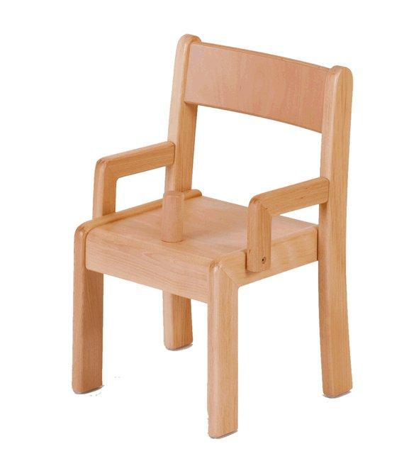 Stuhl Simeon mit Lehne und Knauf