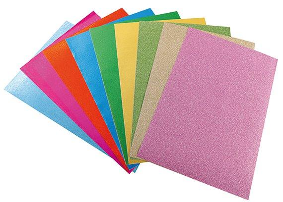 Glitterpapier selbstklebend