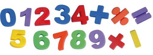 Magnetische cijfers en tekens