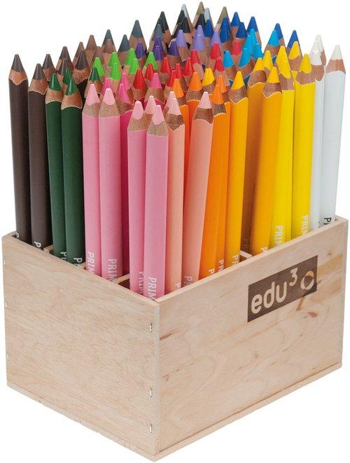 "Edu3 kleurknotsen 96 stuks in 22 kleuren ""gelakt"""