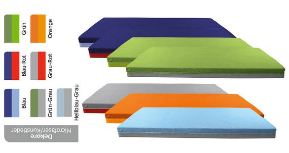 Bodenliegepolster Mikrofaser/Kunstleder