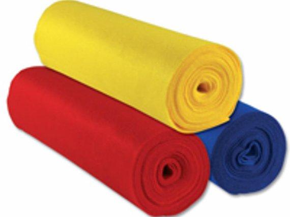 Vilt 8 rollen á 500x45 cm. in 8 kleuren assortie.