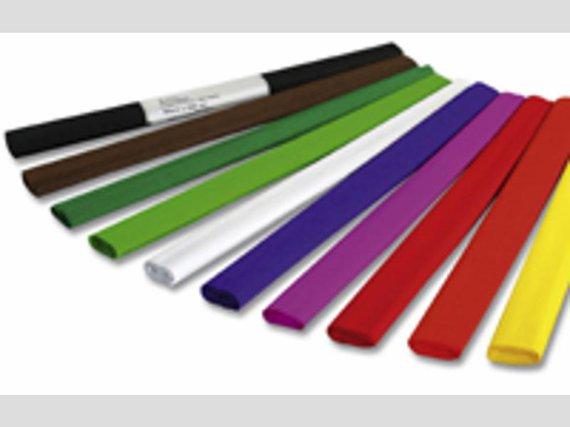 Krepppapier Sortiment 12 Hauptfarben.