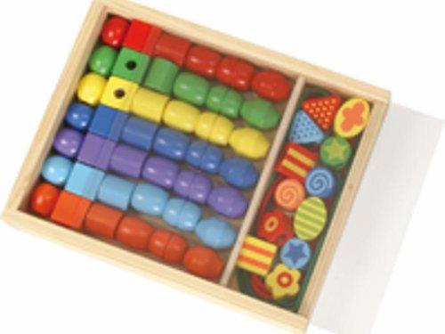 Holzperlen Maxi in Kiste LxBxH