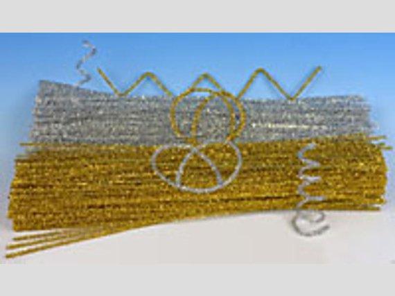 Chenilledraad goud en zilver 10m + 10m