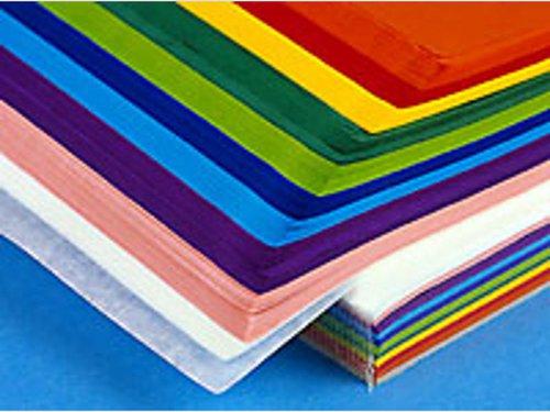 Zijdevloei 10 kleuren assortie á 25 vel per kleur 50x70 cm.