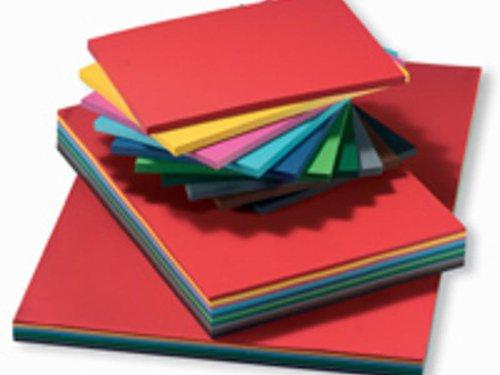 Dik Engels karton 300 gr. 100 vel in 10 kleuren, formaat 50x70 cm.