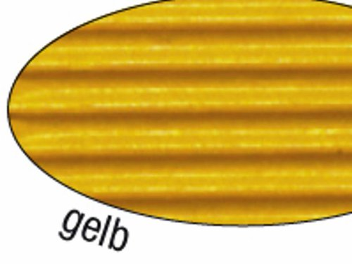 Wellpappe gelb 10 Blatt 50x70cm.