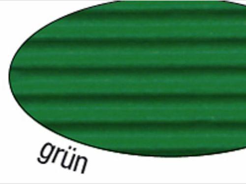 Wellpappe grün 10 Blatt 50x70cm.