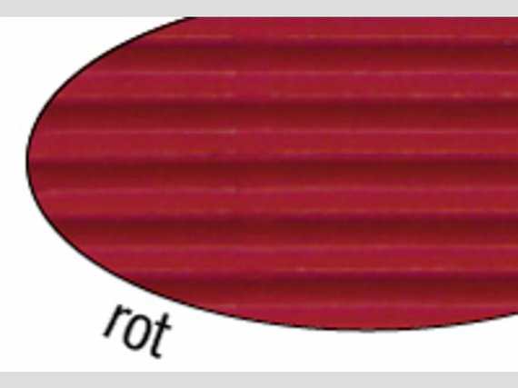 Wellpappe rot 10 Blatt 50x70cm.