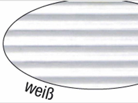 Wellpappe weiss 50x70cm. 10 Blatt.