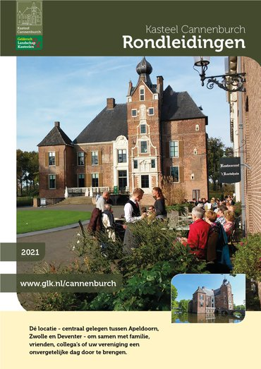 brochure Rondleidingen kasteel Cannenburch