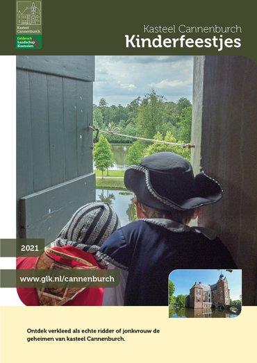 brochure Kinderfeestjes op kasteel Cannenburch