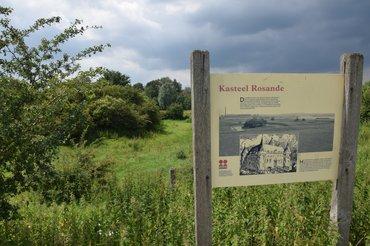 bord en plek kasteel Rosande