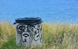 Container, trash