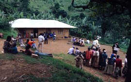 Resource mapping exercises like this one are carried out separately with men and women in the Oku communities. Mount Kilum, Cameroon