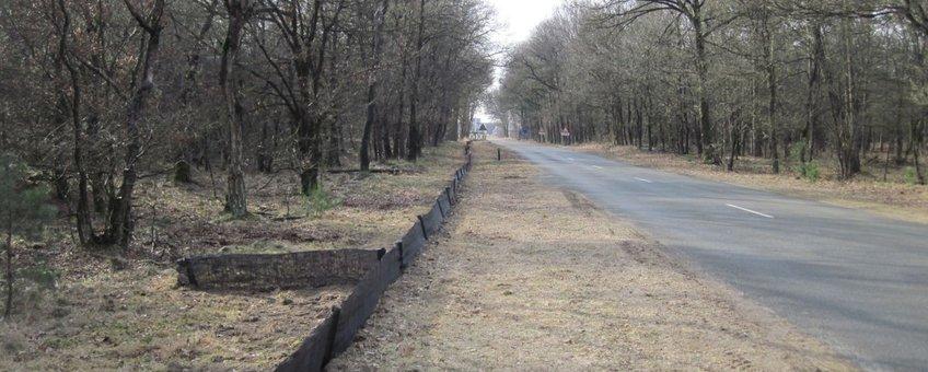 Op 22 februari zijn aan de Heetweg in Kootwijk de schermen geplaatst