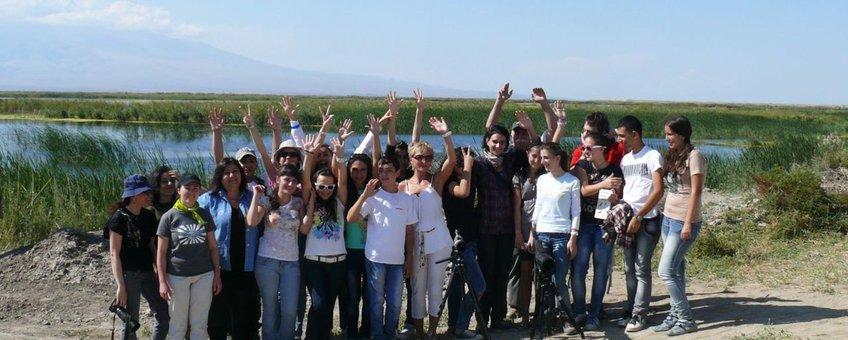 vogelspotters in Armenië